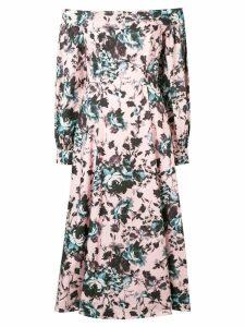 Erdem floral off-shoulder midi dress - Pink