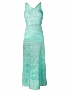 M Missoni long sleeveless dress - Blue