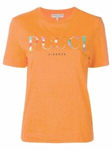 Emilio Pucci Orange Rivera Print Logo T-shirt