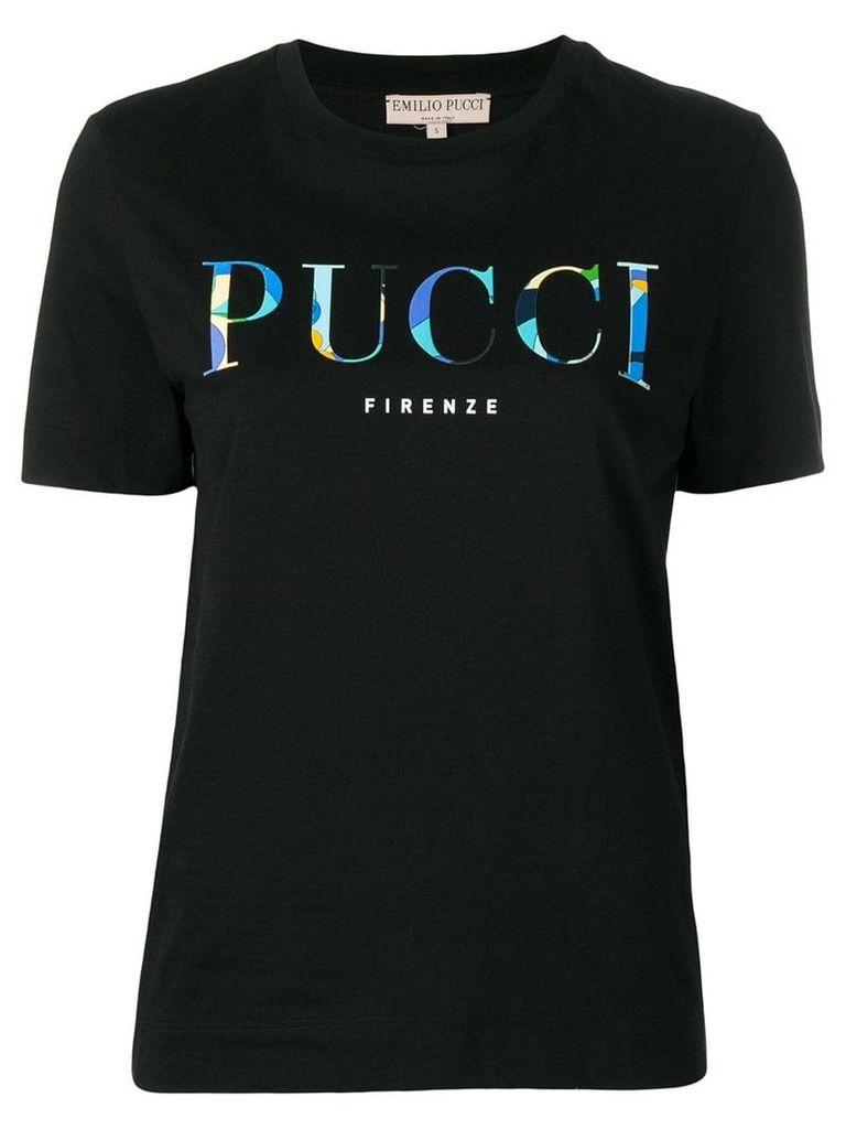 Emilio Pucci logo T-shirt - Black