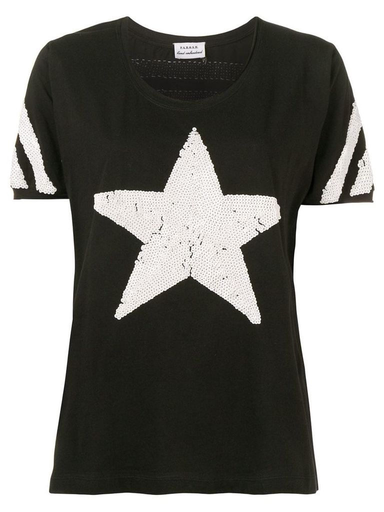 P.A.R.O.S.H. sequined star T-shirt - Black