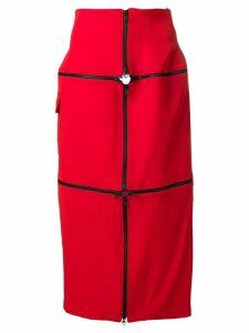 Yohji Yamamoto zip skirt - Red