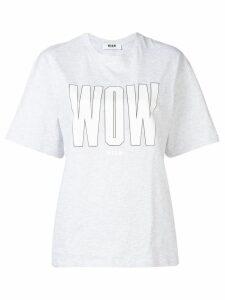 MSGM printed T-shirt - Grey