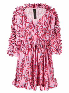 Romance Was Born Psychedelic Vine short dress - Pink