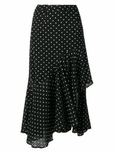 Jovonna polka dot asymmetric skirt - Black