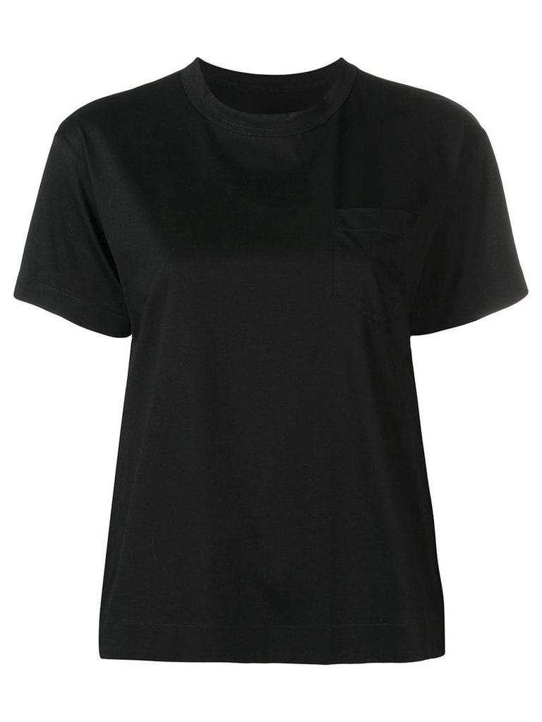 Sacai layered crewneck T-shirt - Black