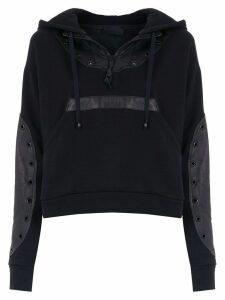 Andrea Bogosian panelled hoodie - Black