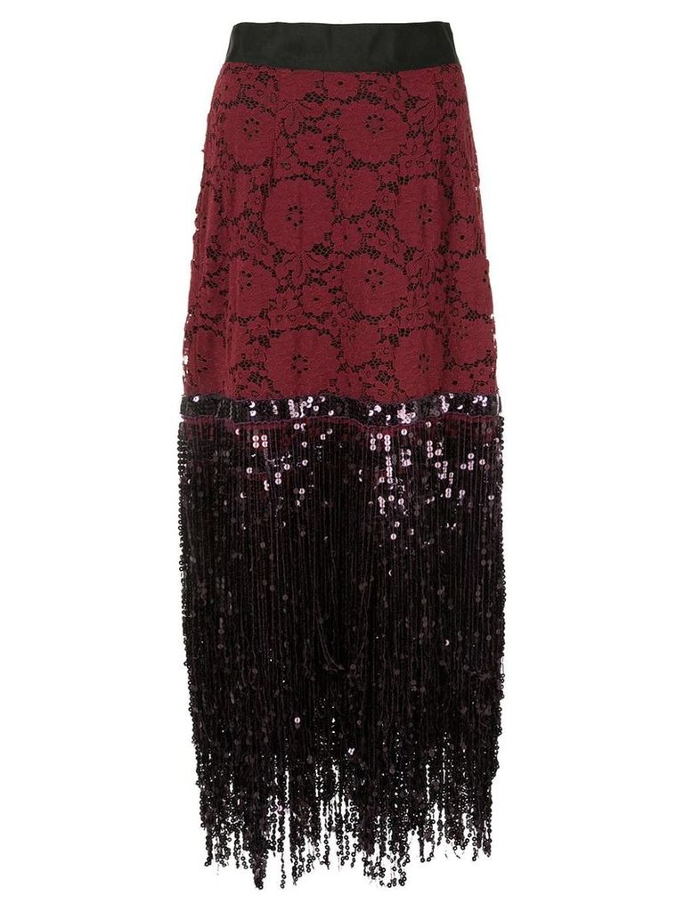 Romance Was Born Disco Dame skirt - Red