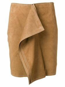 Aalto fitted panel skirt - Neutrals