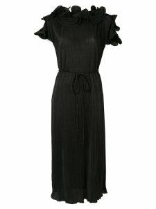 Romance Was Born Bloom pleated dress - Black