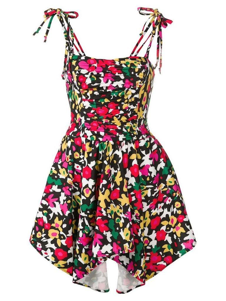 Attico floral ruched mini dress - Pink