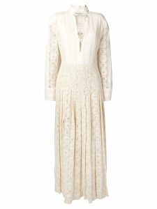 Philosophy Di Lorenzo Serafini pleated lace dress - Neutrals