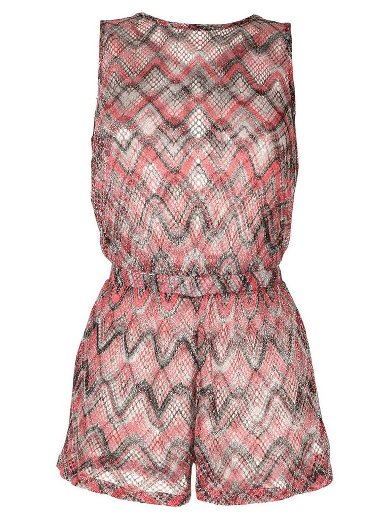 Missoni belted beach dress - Red