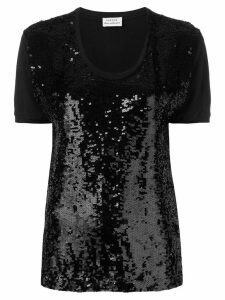 P.A.R.O.S.H. sequin embellished T-shirt - Black