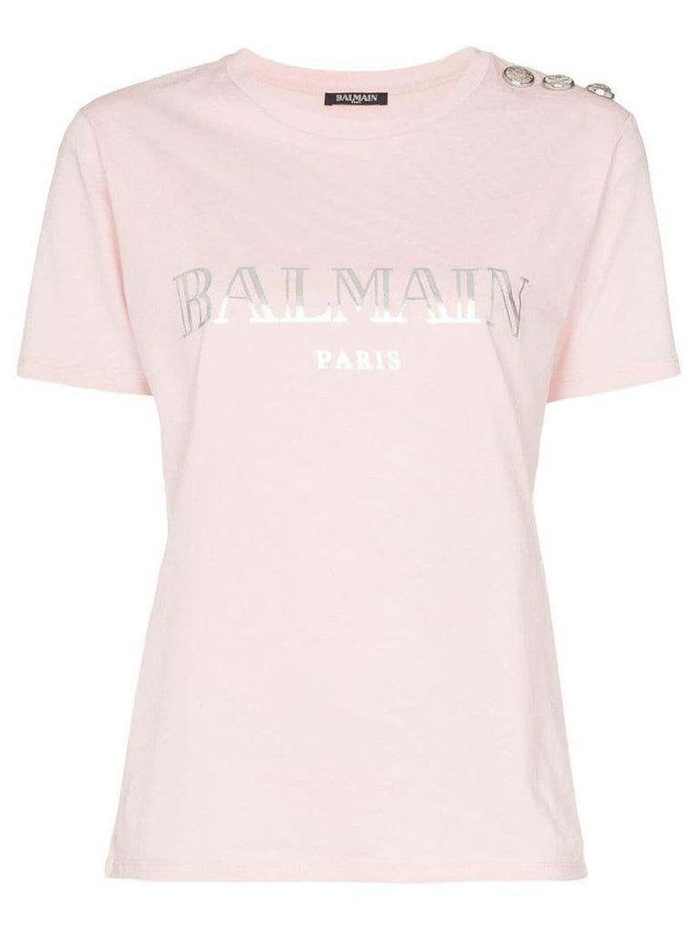 Balmain logo print T-shirt - Pink