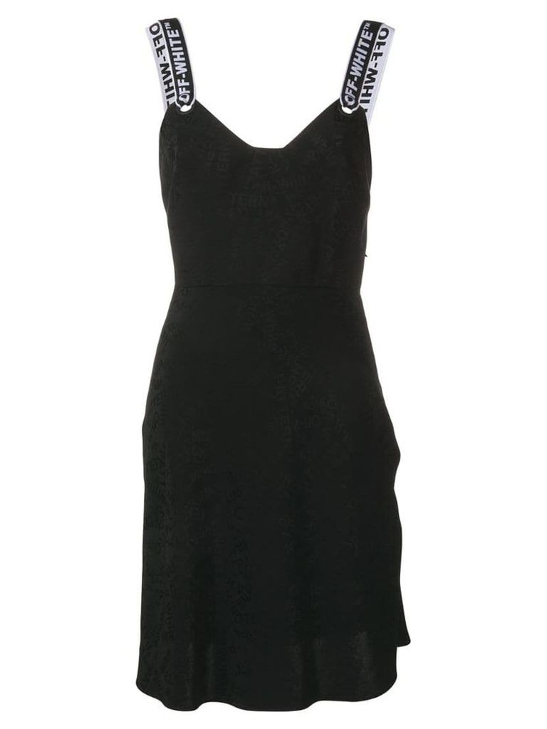 Off-White logo jacquard dress - Black