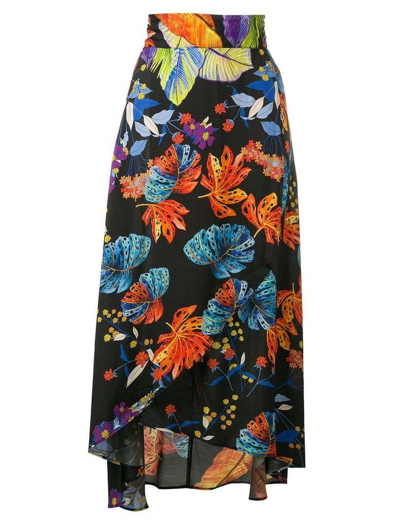 Pinko floral wrap skirt - Black