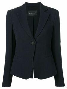 Emporio Armani textured blazer - Blue