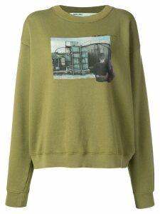 Off-White graphic design sweatshirt - Green