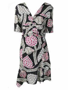 Isabel Marant floral ruched drape dress - Black