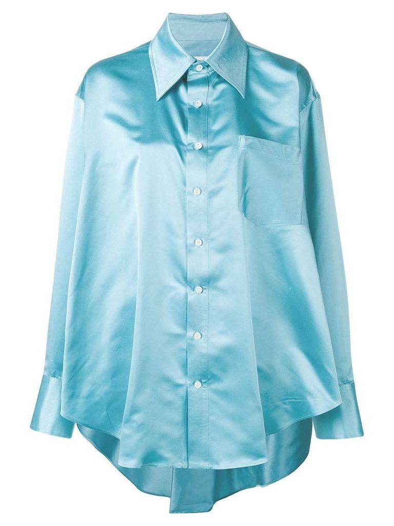 Matthew Adams Dolan oversized drape shirt - Blue