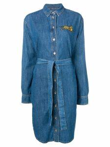Kenzo tiger patch shirt dress - Blue