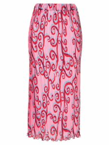 Romance Was Born Psychedelic Vine Skirt - Pink