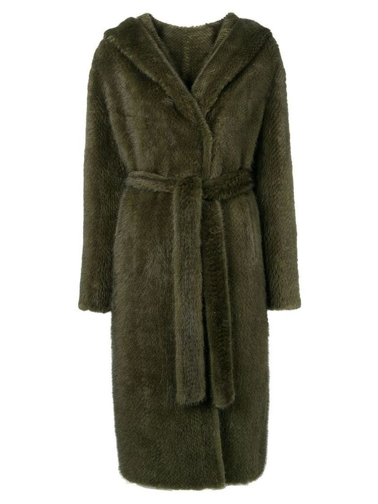 Liska hooded midi coat - Green