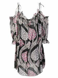 Isabel Marant off-shoulder floral dress - Black