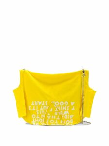 Mm6 Maison Margiela chain V-neck T-shirt - Yellow