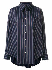 Matthew Adams Dolan oversized striped shirt - Blue
