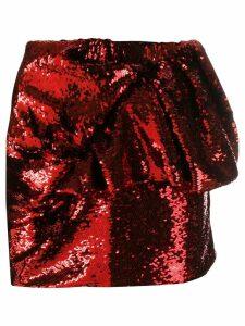 Alexandre Vauthier sequin mini skirt - Red