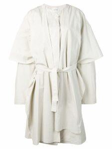 Lemaire oversized layered trench coat - White