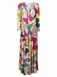 Ultràchic butterfly print maxi dress - Pink