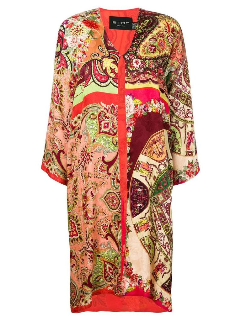 Etro Spolverino Meadows coat - Red