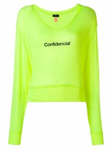 Marcelo Burlon County Of Milan confidencial label jumper - Yellow
