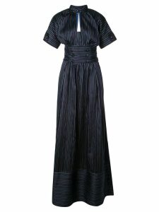 Rosie Assoulin striped flared maxi dress - Blue