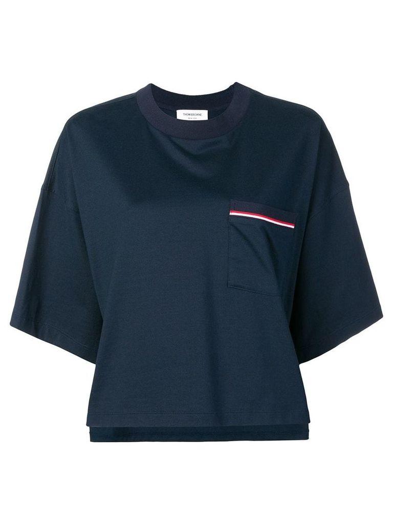 Thom Browne Jersey Oversized Pocket Tee - Blue