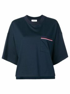 Thom Browne Jersey Oversized Pocket Tee - Blue