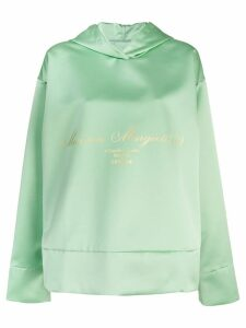Mm6 Maison Margiela logo hoodie - Green