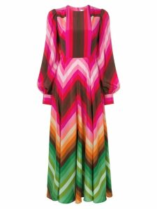 Valentino chevron print long dress - Pink