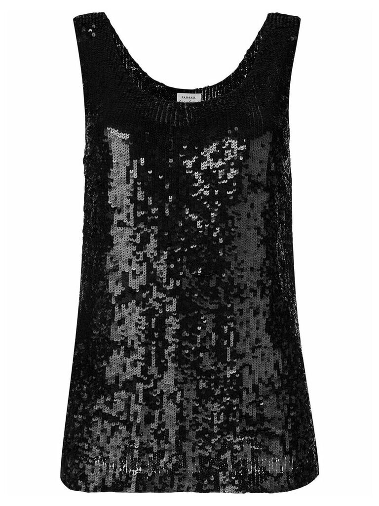 P.A.R.O.S.H. sequin tank top - Black