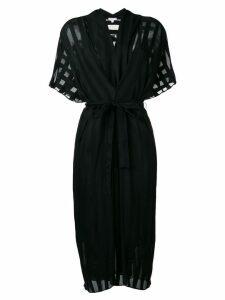 Lala Berlin striped sheer midi dress - Black