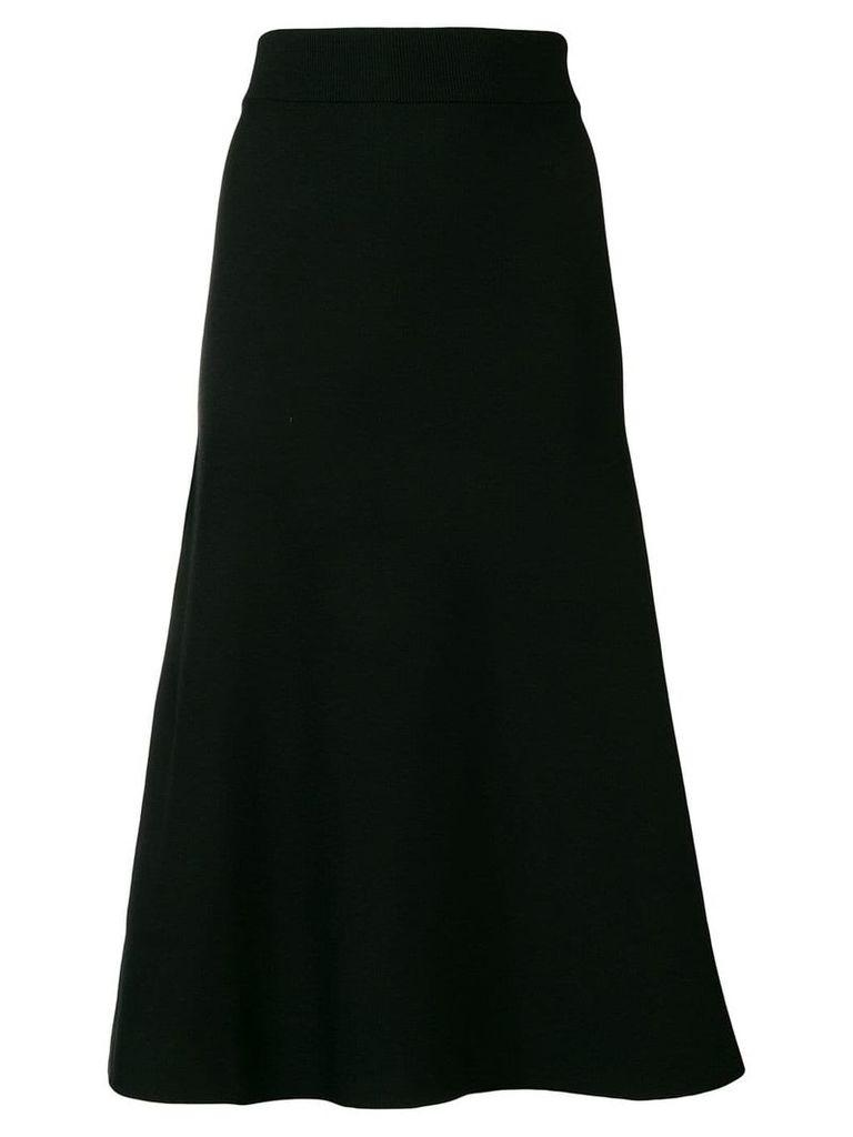 Dagmar flared A-line midi skirt - Black