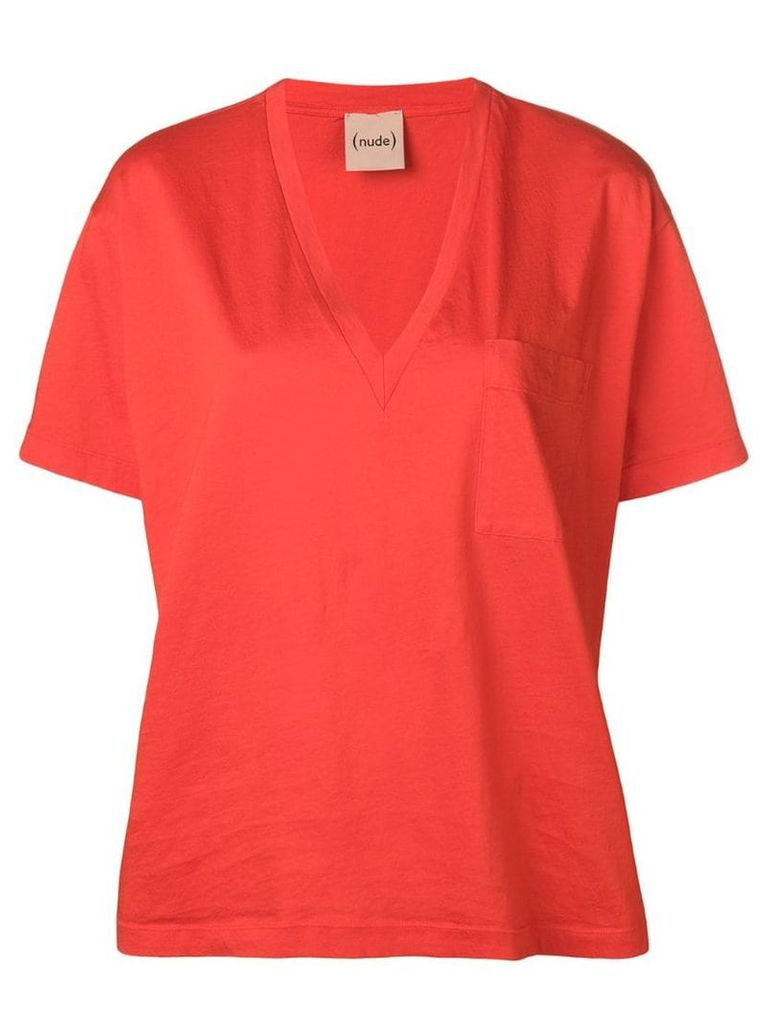 Nude relaxed shirt - Orange