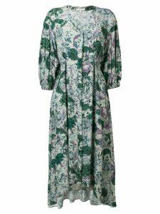 Dagmar floral flared midi dress - Green
