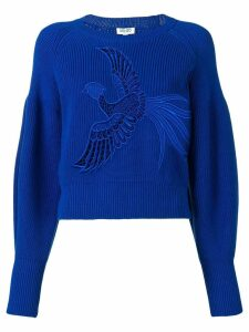 Kenzo bird embroidered sweater - Blue