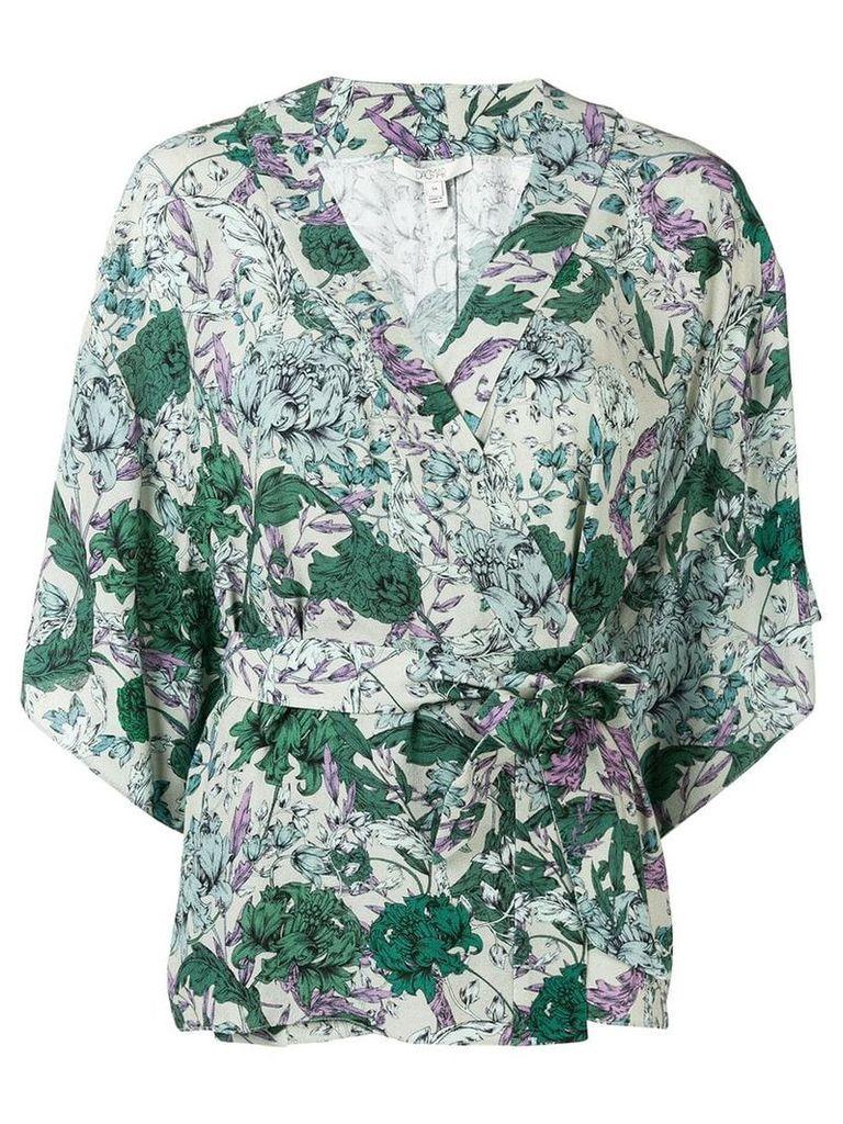 Dagmar floral wrap blouse - Green
