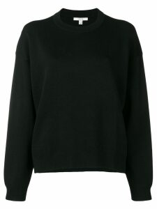 Dagmar long-sleeve fitted sweater - Black