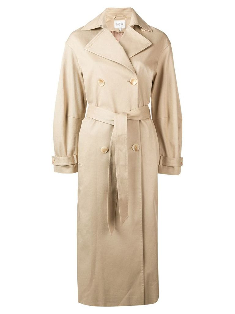 Dagmar double-breasted trench coat - Neutrals